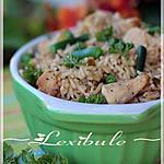 recette ~Casserole de riz au poulet à la moutarde