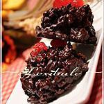 recette Rochers au chocolat, canneberges et épices