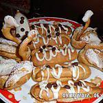 assortiment de choux a la créme patissiére chocol blanc et pepite de chocolat