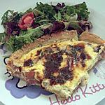 recette tarte fourme d'ambert/jambon cru