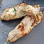 recette Brochettes d'escalopes de dinde marinées au yaourt 0% et parfumées à l'estragon