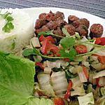 recette Merguez contaminé au wok