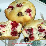 recette Muffins aux canneberges, orange et chocolat