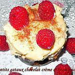 recette petits gateaux chocolat crème et framboise