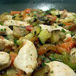 recette poêlée de poulet à la provençale