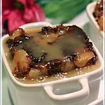 recette Gâteau pouding aux pommes, sauce au caramel