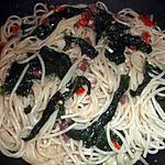 recette Spaghettis aux épinards et à la coppa
