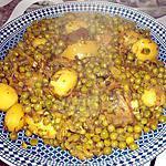 recette Tajine de jarret de veau petits pois et pomme de terre