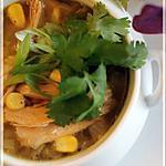 recette Soupe Aztèque au poulet et maïs