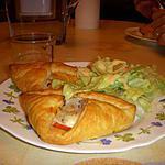 recette feuilletés chèvre saumon (en panier)