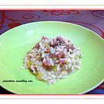 recette Risotto poireaux et saucisses