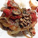 recette Côtelettes de porc aux tomates et à l'oignon
