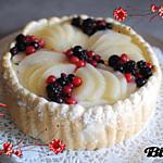 Bavarois poire et fruits rouge