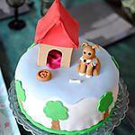 """Gâteau en pâte à sucre """"thème chien"""""""