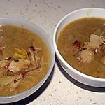 recette Soupe de poireaux (avec dessus des blancs de poireaux fondus au beurre)