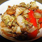 recette Chou chinois aux crevettes et au gingembre