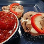 recette Petites pizzas maison de fiston (sauce à pizza de Ricardo)
