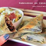 recette Samoussas au confit de canard