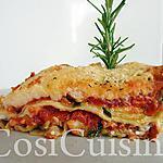 recette Lasagne au poulet, carottes et courgettes