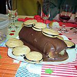recette Bûche de Noël à la crème de marrons et glaçage chocolat