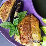 Paupiette d'aubergine à la mozzarella