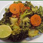 recette Idée de poélée de légumes : poélée de brocolis et carottes au citron et basilic