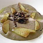 recette Velouté de châtaignes, pommes de terre et lardons