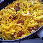 recette Riz poêle aux calamars chorizo et citron