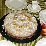 recette Gâteau amandin à la mousse de bananes