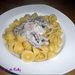 recette Orecchiette sauce crémeuse au gorgonzola et champignons frais