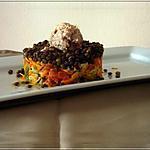 recette Salade colorée de crudités râpées & Rillettes de Thon