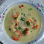 recette Soupe exotique coco scampis