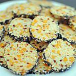 recette Sablés à la mimolette et lardons