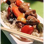 recette Porc thaïlandais avec sauce sur lit de riz au jasmin