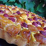 Tarte aux pommes caramélisées et sa touche framboisée