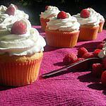 recette Cupcake framboise- et crème fouettée