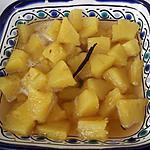 recette Compotée d'ananas à la vanille