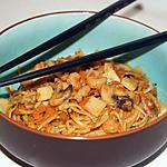 recette Nouilles chinoises sautées aux champignons et crevettes