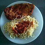 recette Gratin de Côtes de porc à la sauce tomate