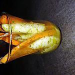 recette verrine pommes- carottes au miel et au curry.