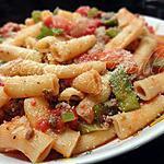 recette Pinocchio (rigatoni) à la viande épicé