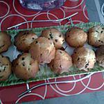 recette muffins aux pepites de chocolat et coeur au nutella