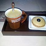 recette Mon café gourmand, macaron au chocolat!
