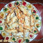 recette DELICES AUX AMANDES ET FRUITS CONFITS