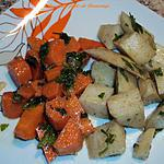 recette Salade de pommes de terre et de carottes à la Marocaine