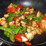 recette Sauté de poulet, pois mangetout et noix de cajou