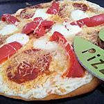 recette Pizza blanche au chorizo et poivrons