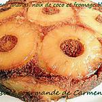 recette Gâteau à l'ananas, noix de coco et fromage blanc
