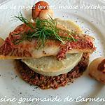 recette Filet de rouget barbet , mousse d'artichaut