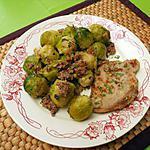 recette Grillades de porc et choux de Bruxelles